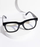 Retro Style Black Eclectic Blue Light Glasses
