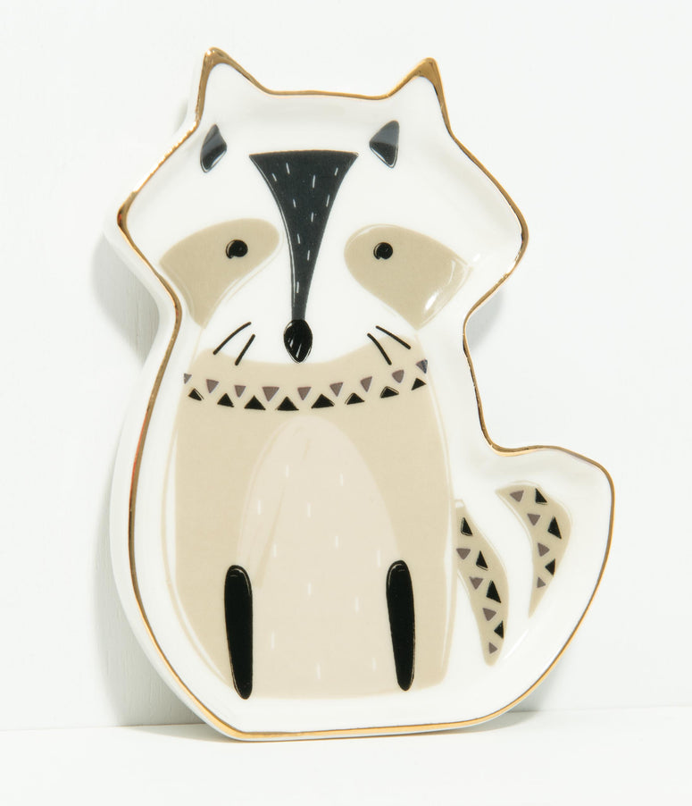 Raccoon Ceramic Trinket Dish