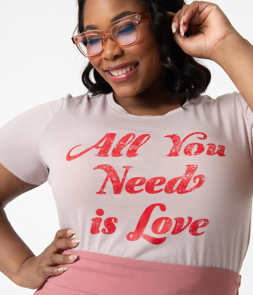 Plus Size All You Need Is Love Unisex Tee