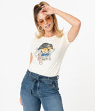 Unique Vintage The Jolly Cat Fitted Graphic Tee