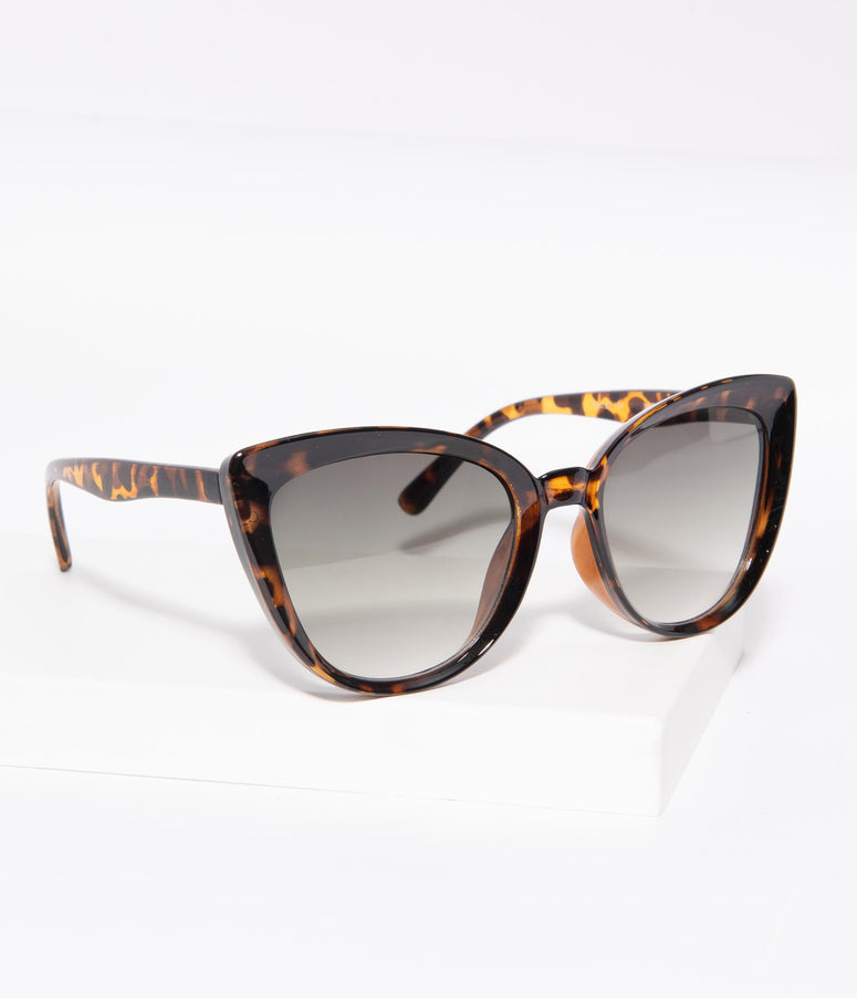 Vintage Style Tortoise Shell Sweet Stuff Cat Eye Sunglasses