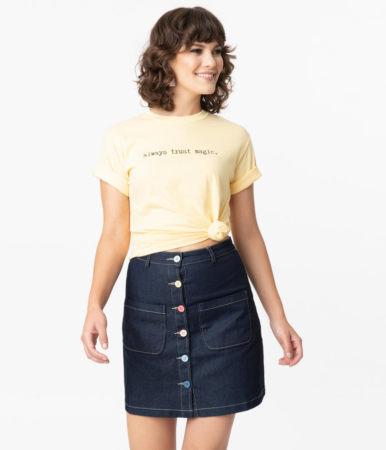 Yellow Always Trust Magic Unisex Graphic Tee