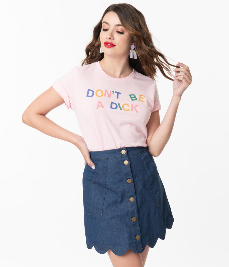 Pink Dont Be a Dick Unisex Graphic Tee