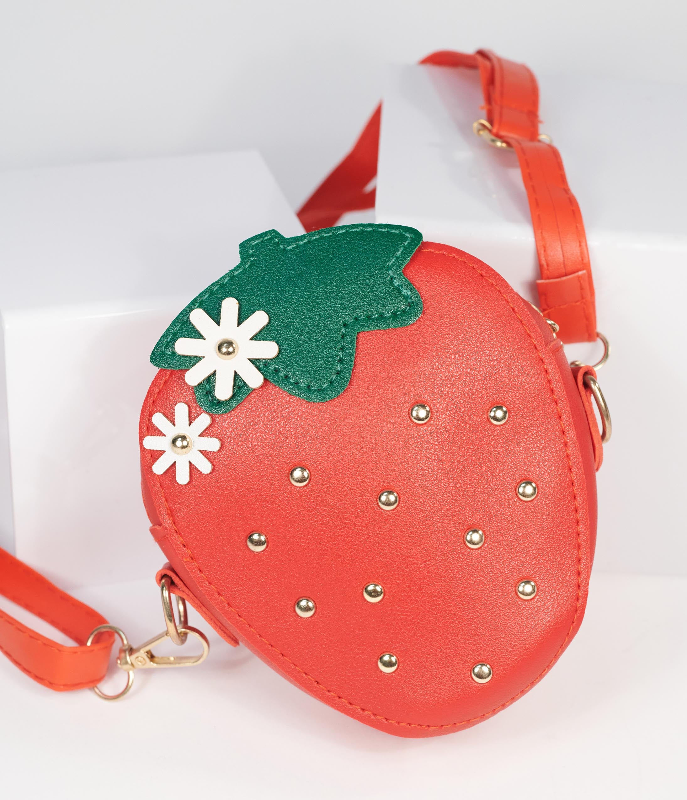 1950s Handbags, Purses, and Evening Bag Styles Red Strawberry Mini Coin Purse $38.00 AT vintagedancer.com