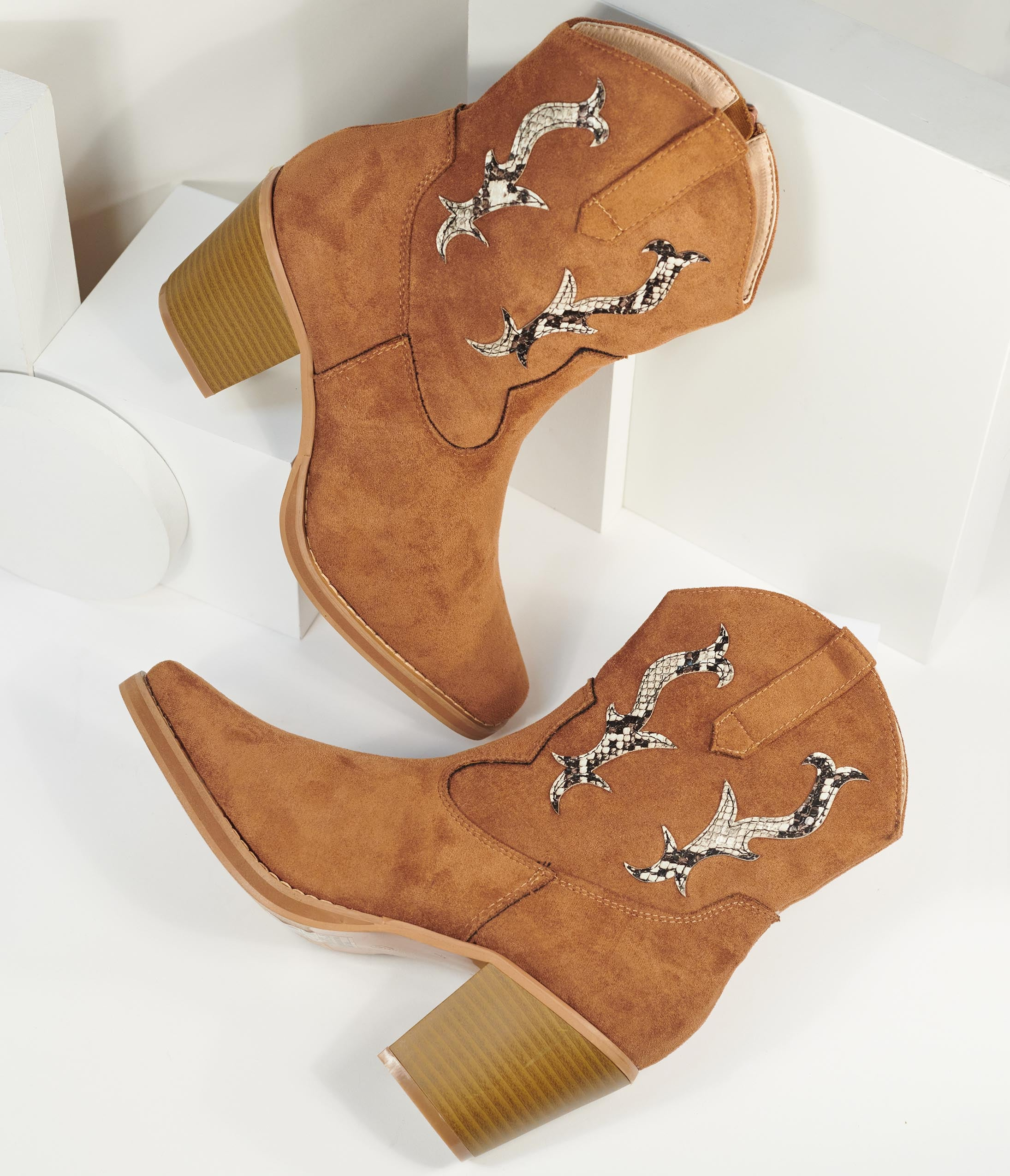 Vintage Western Wear Clothing, Outfit Ideas Brown Suede Western Cowboy Boots $68.00 AT vintagedancer.com