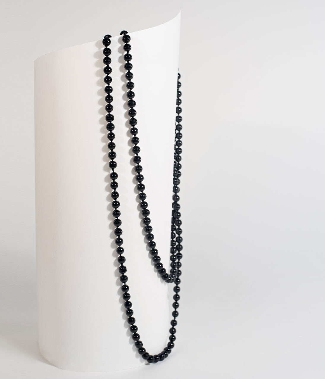 Vintage Style Jewelry, Retro Jewelry Black 60 Long Pearl Necklace $22.00 AT vintagedancer.com