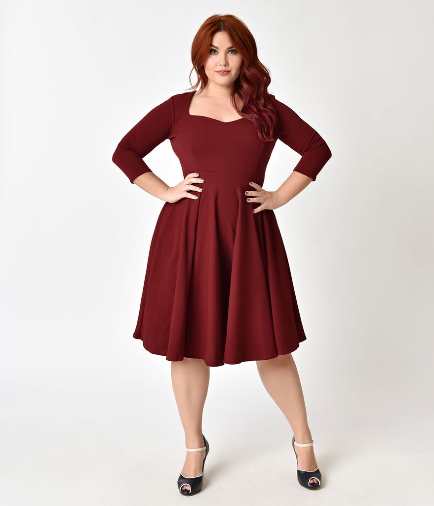 Vintage Plus Size Dresses - Swing & Pencil Dresses ...