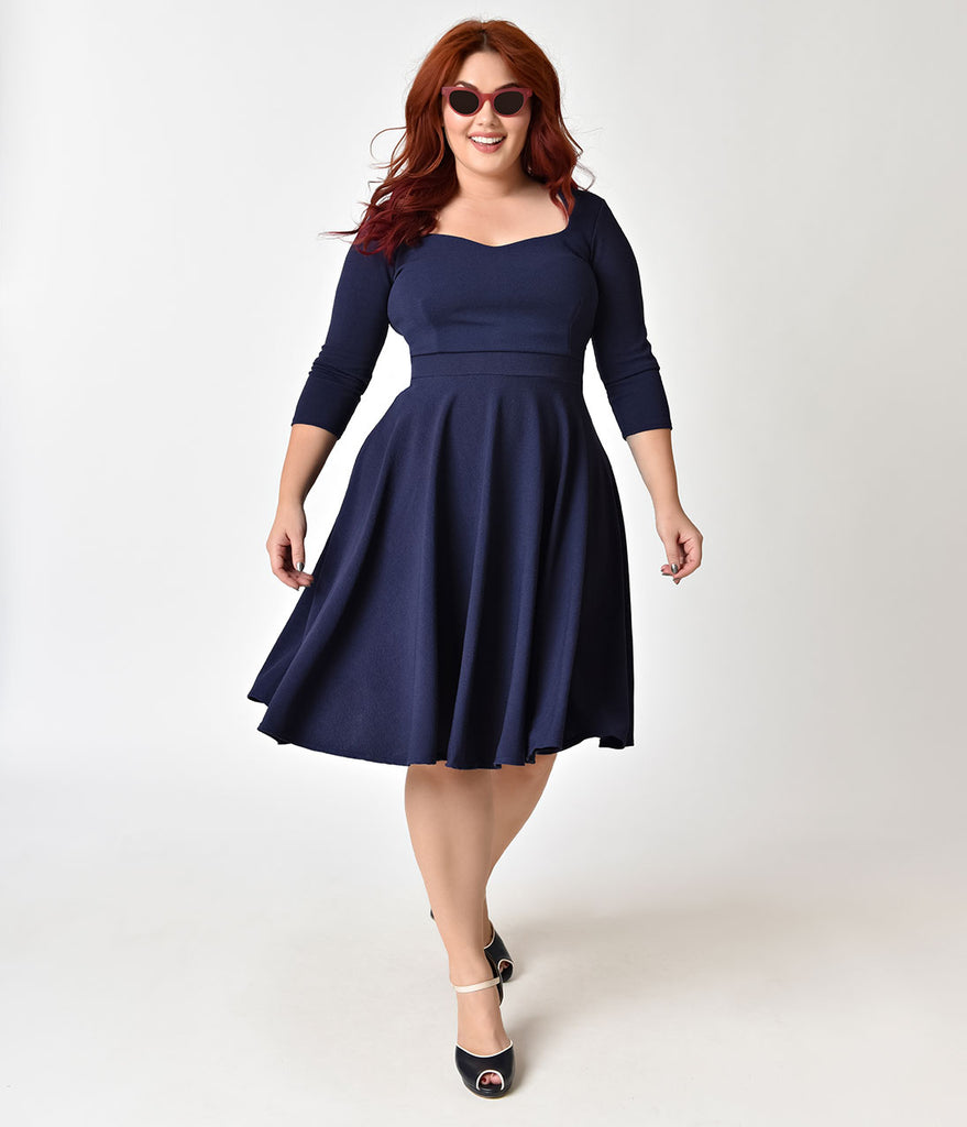 plus size vintage dresses - swing, pencil & more – unique vintage