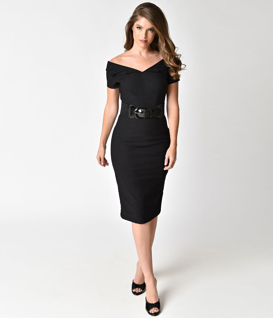 Off the shoulder cocktail dress with sleeves