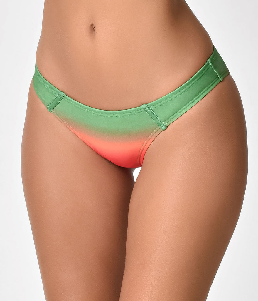 Unique Vintage Watermelon Ombre Low Bettina Bikini Bottoms