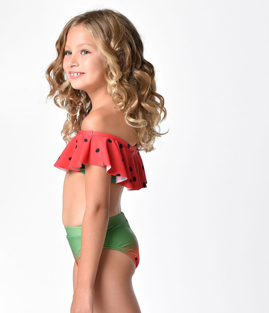 Unique Vintage Kids Watermelon Swim Bottom