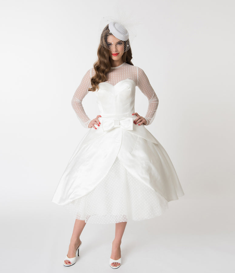 Vintage-Inspired Wedding Dresses - Lace & Tea-Length Styles ...