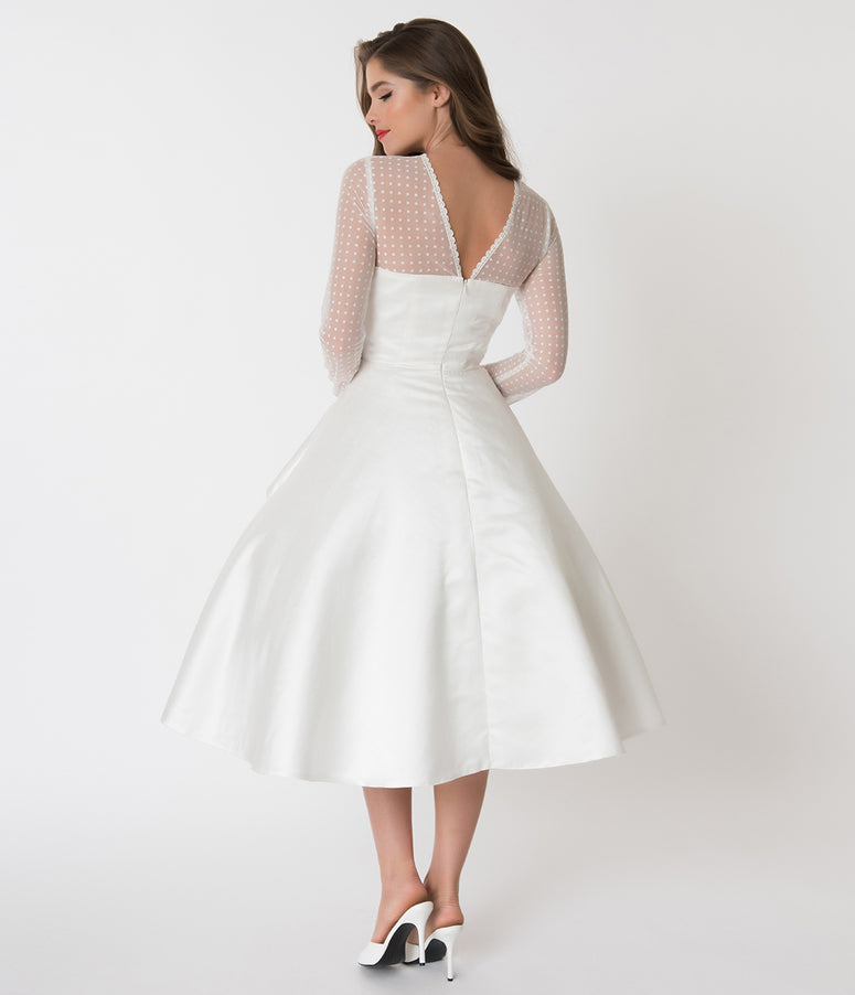Vintage Inspired Wedding Dresses Lace Tea Length Styles Unique