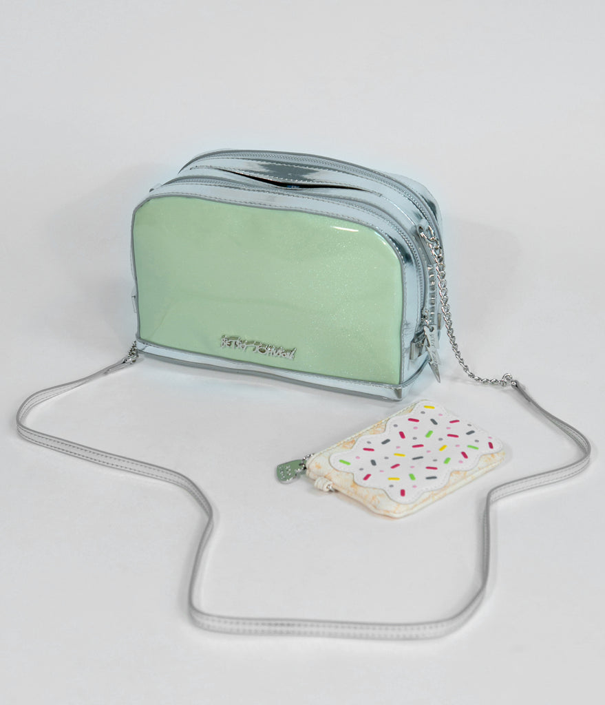 Betsey Johnson Mint A Toast To You Crossbody