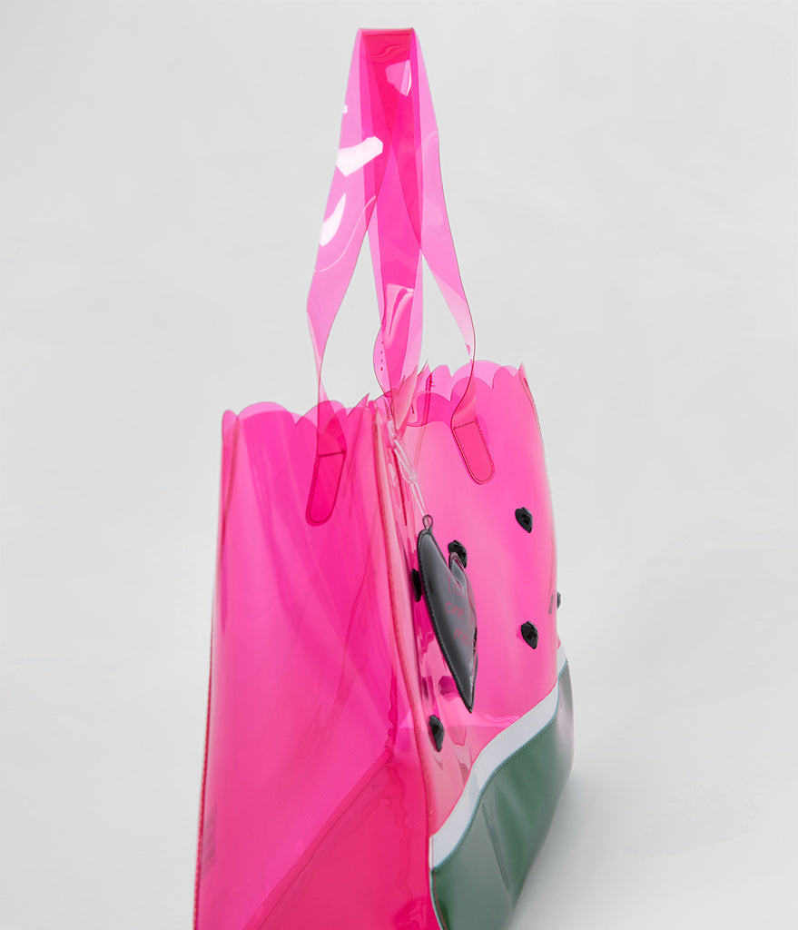 Betsey Johnson Pink Watermelon Clear PVC Tote