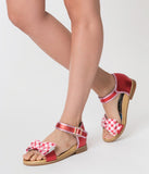 Irregular Choice Red Gingham Picnic Day Sandals