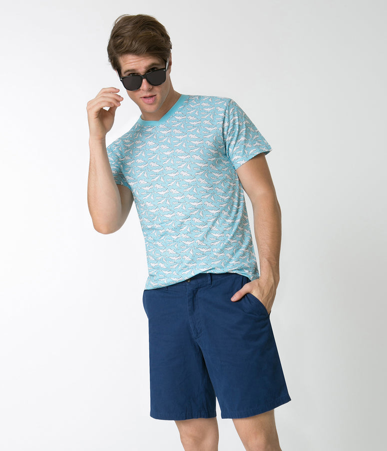 Atlantic Blue Mens Cotton Cisco Shorts