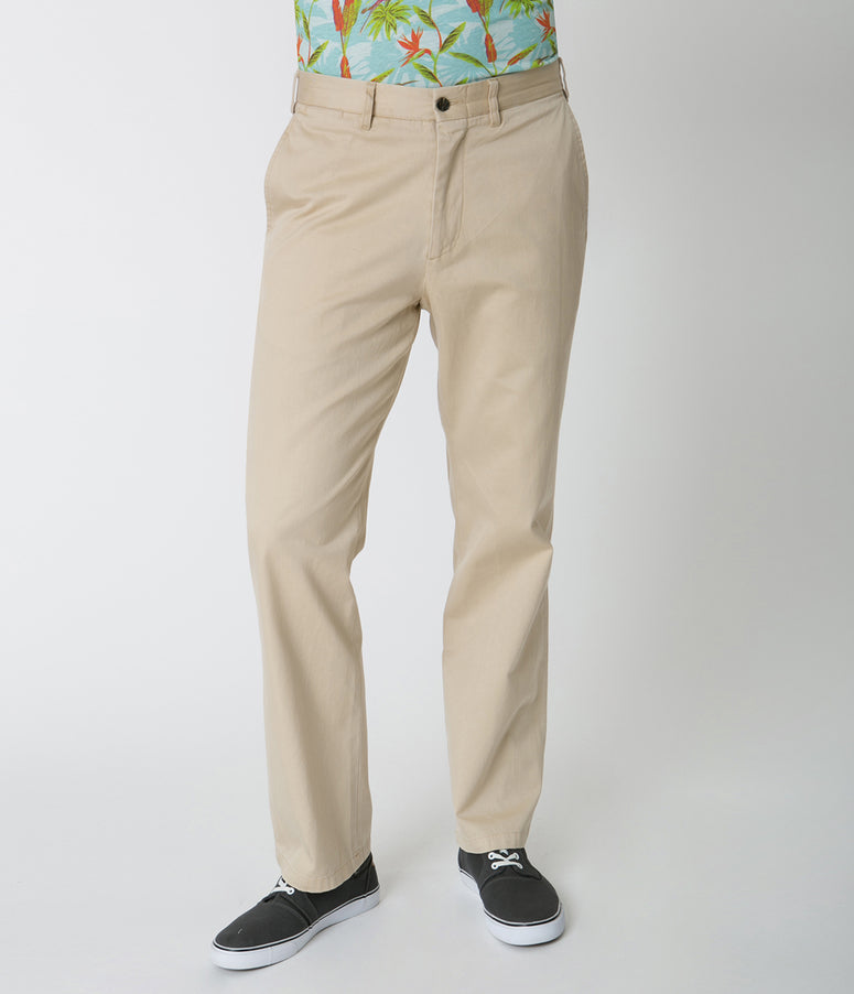 Natural Tan Mens Cotton Harbor Pants