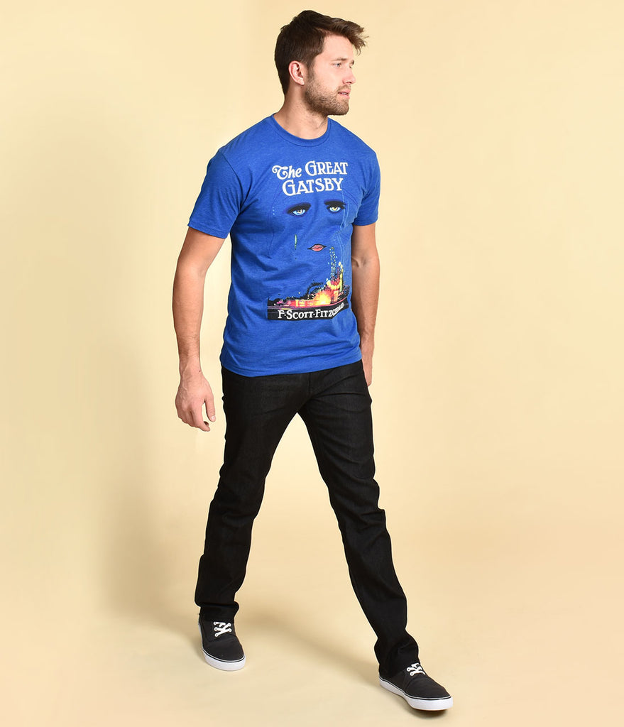 Blue The Great Gatsby Short Sleeve Mens Cotton Tee