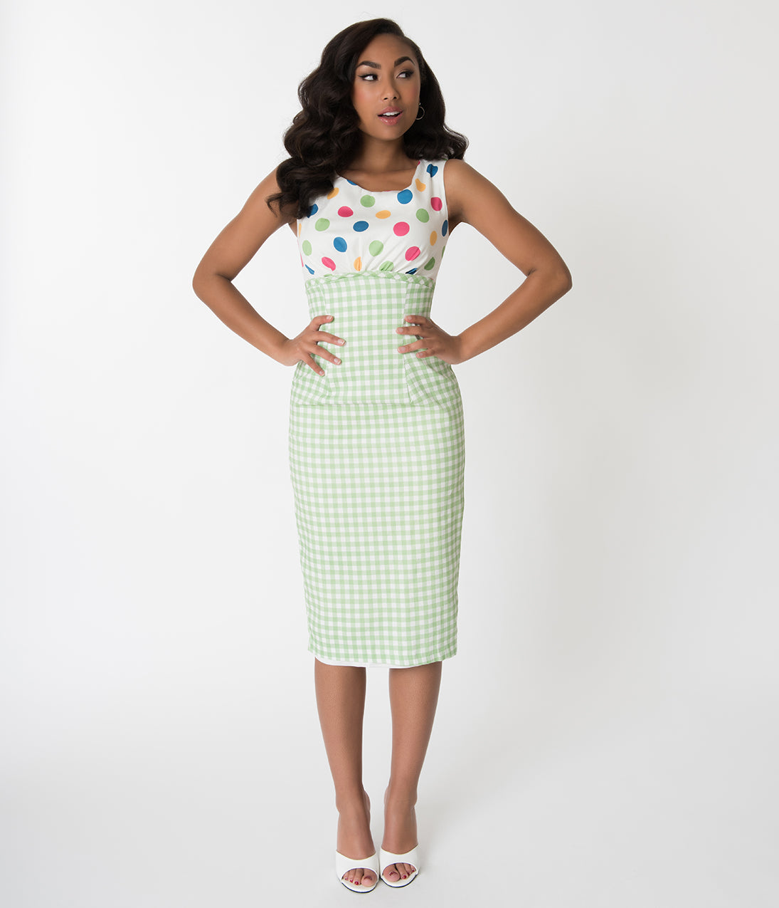 1960s Dresses | 60s Dresses Mod, Mini, Jakie O, Hippie Barbie X Unique Vintage 1960S Lunch On The Terrace Pencil Dress $118.00 AT vintagedancer.com