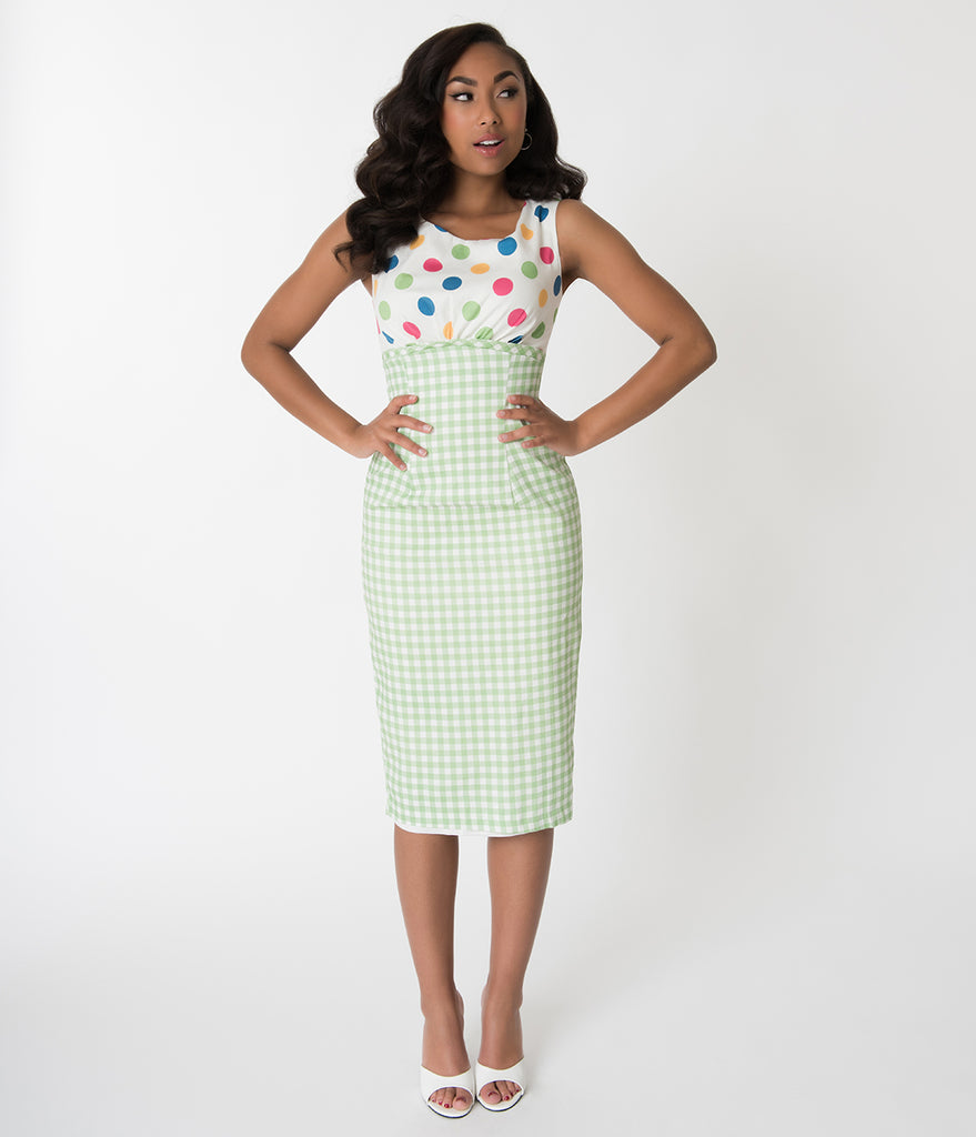 Barbie x Unique Vintage 1960s Lunch On The Terrace Pencil Dress