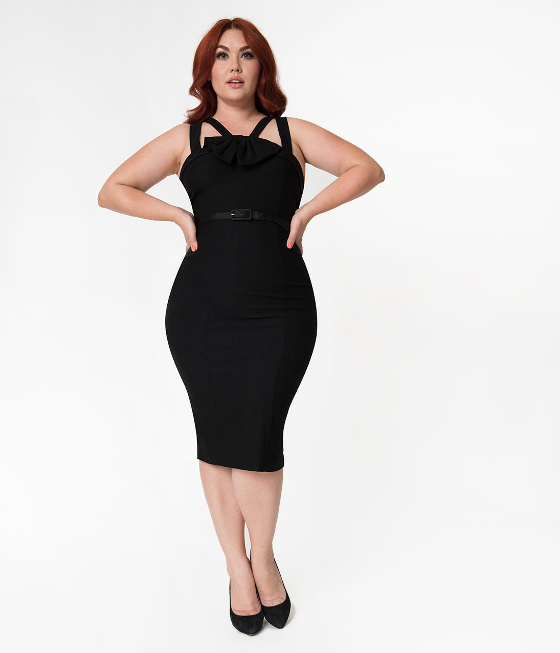 Pin Up Dresses | Pin Up Clothing Janie Bryant For Unique Vintage Plus Size 1960S Style Black Betty Wiggle Dress $88.00 AT vintagedancer.com