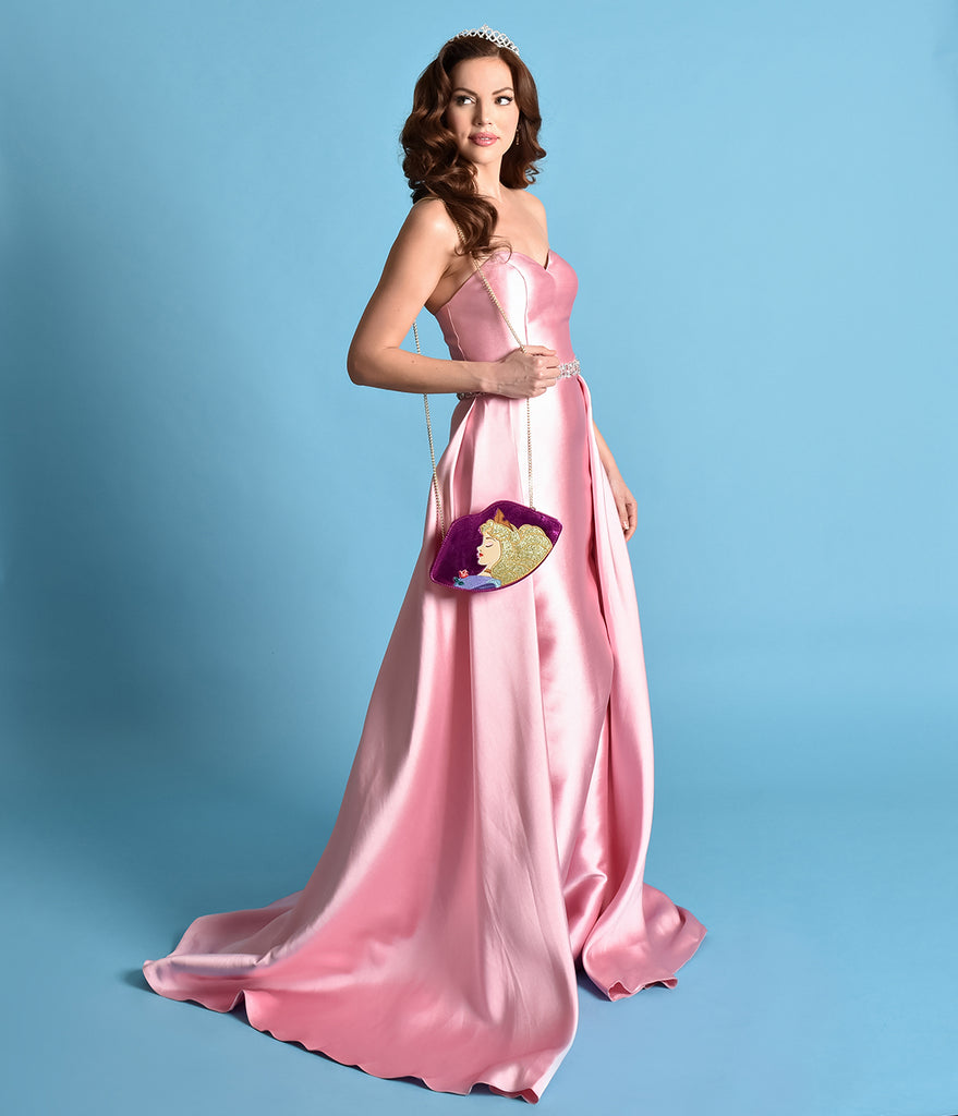 Dusty Rose Pink Strapless Sweetheart Neckline Satin Prom Gown ...