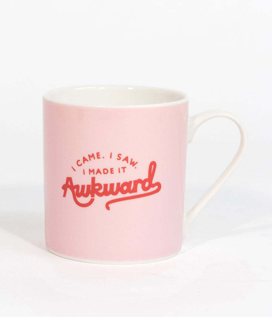 Pink I Made It Awkward Coffee Mug