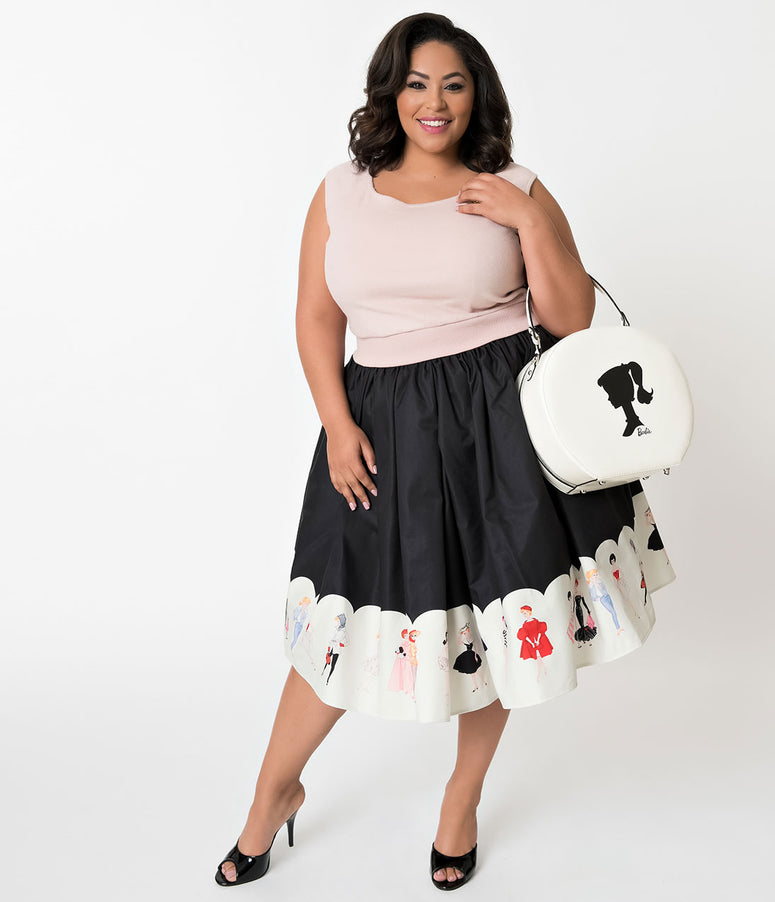 Barbie x Unique Vintage Plus Size My Barbie Collection Swing Skirt
