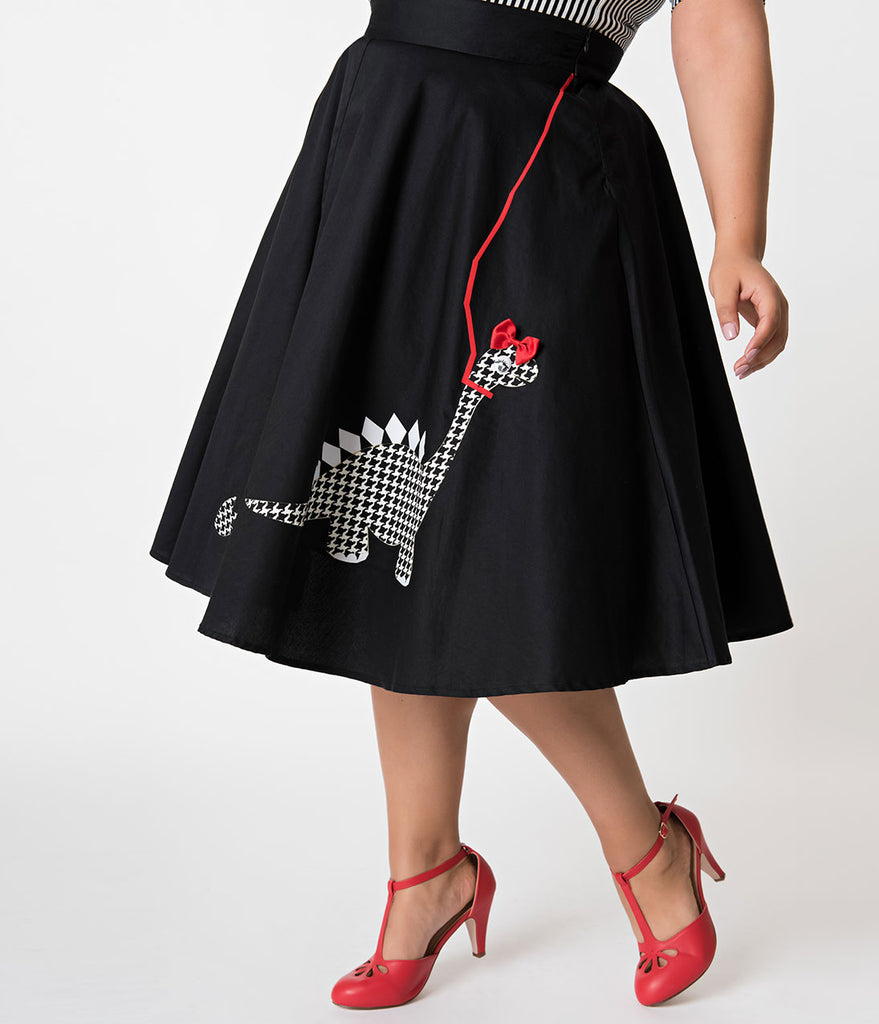 Unique Vintage Plus Size A Girl & Her Dinosaur Irving Swing Skirt