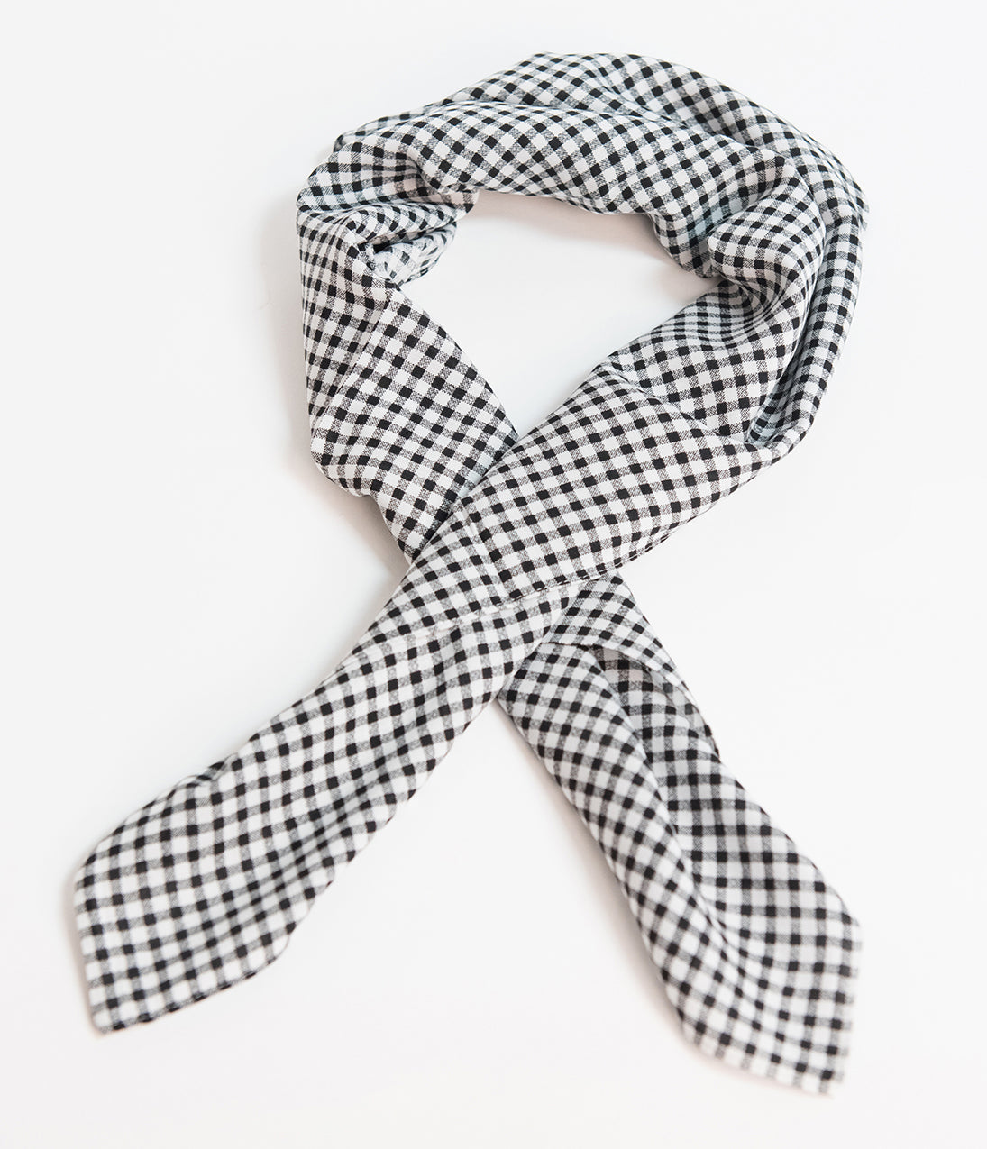 Vintage Scarves- New in the 1920s to 1960s Styles Unique Vintage Pin-Up Black  White Gingham Fabric Hair Scarf $10.00 AT vintagedancer.com