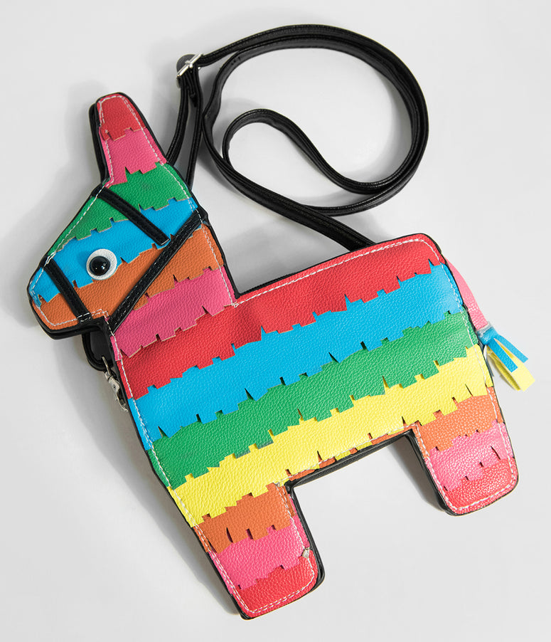 Rainbow Striped Piñata Crossbody