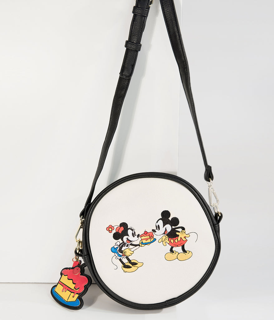 Loungefly Mickey & Minnie Party Time Round Disney Crossbody Purse