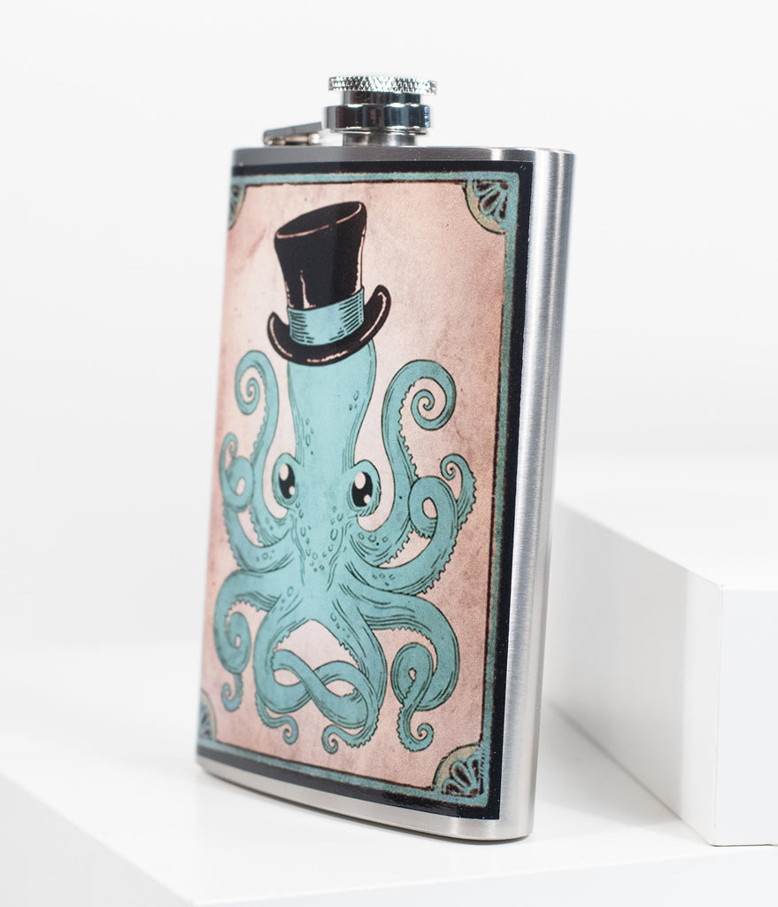 Stainless Steel Gentleman Octopus Hip Flask