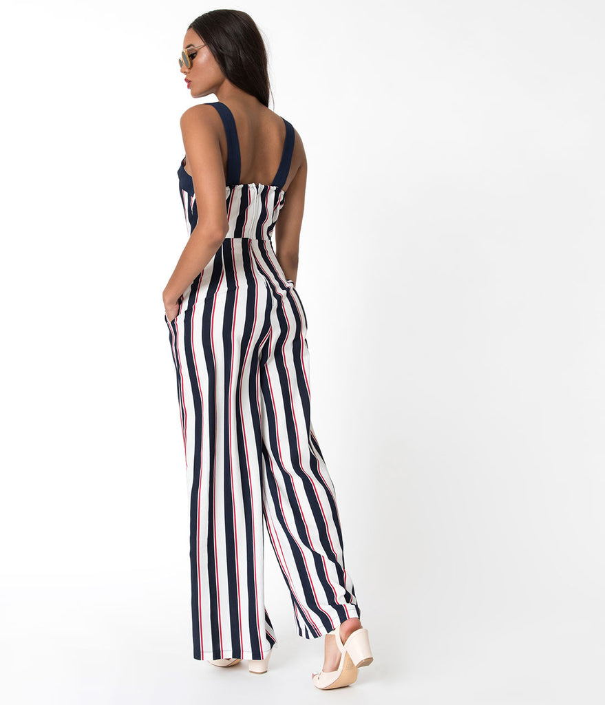 fd600c89897e Red White And Blue Striped Jumpsuit