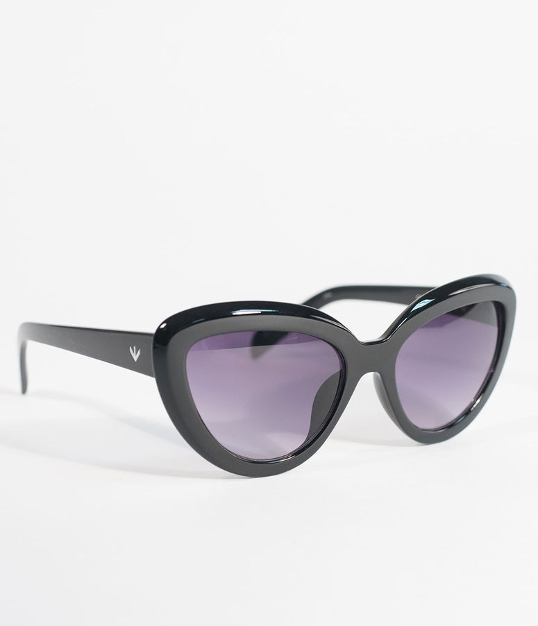 Perverse Black Bengal Cat Eye Sunglasses