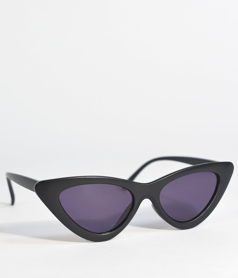 Classic Black Retro Cat Eye Sunglasses