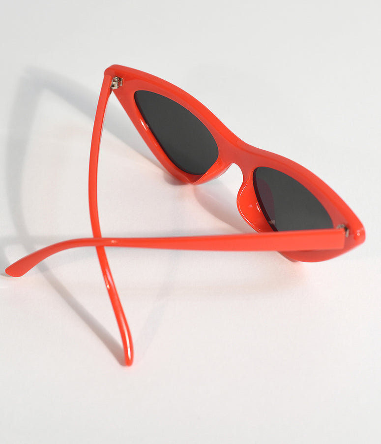 Red Cherry Retro Cat Eye Sunglasses