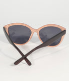 Peach Pink & Brown Retro Sunglasses