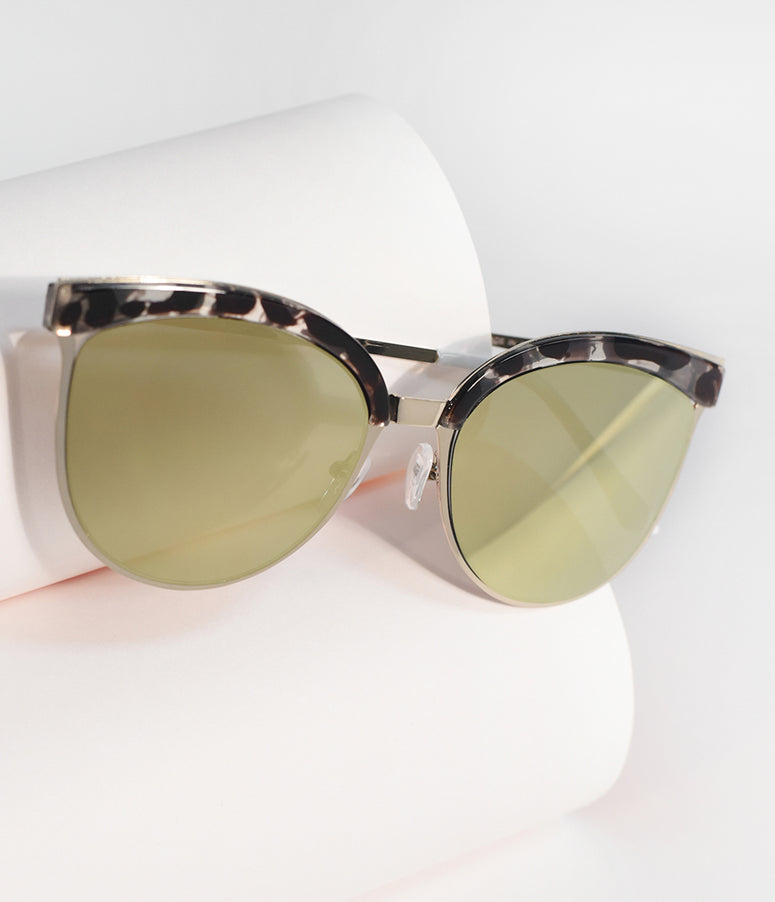 Grey Tortoise & Golden Aviator Nice Girls Sunglasses