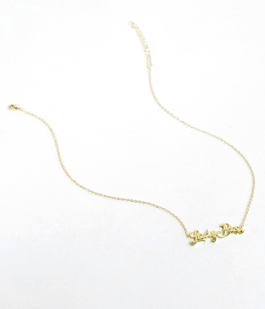 Gold Lady Boss Necklace