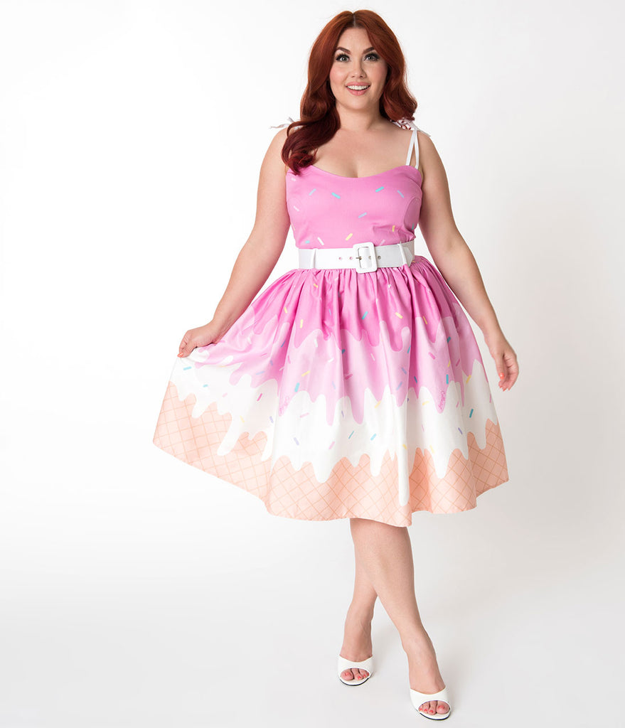 Plus Size Retro Dress
