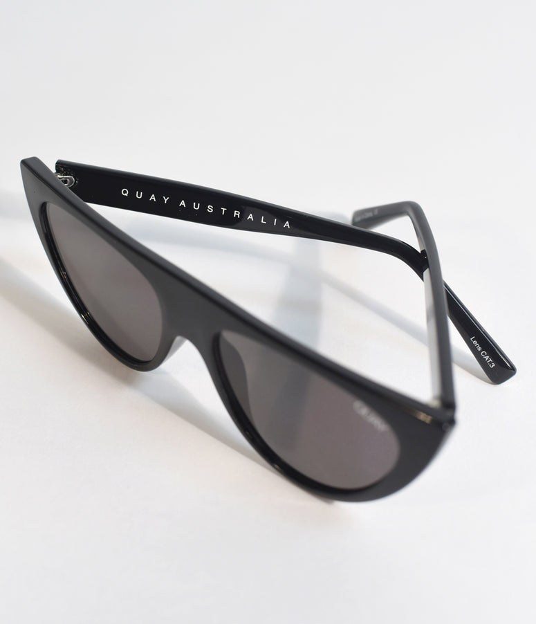 Quay Black Run Away Cat Eye Sunglasses