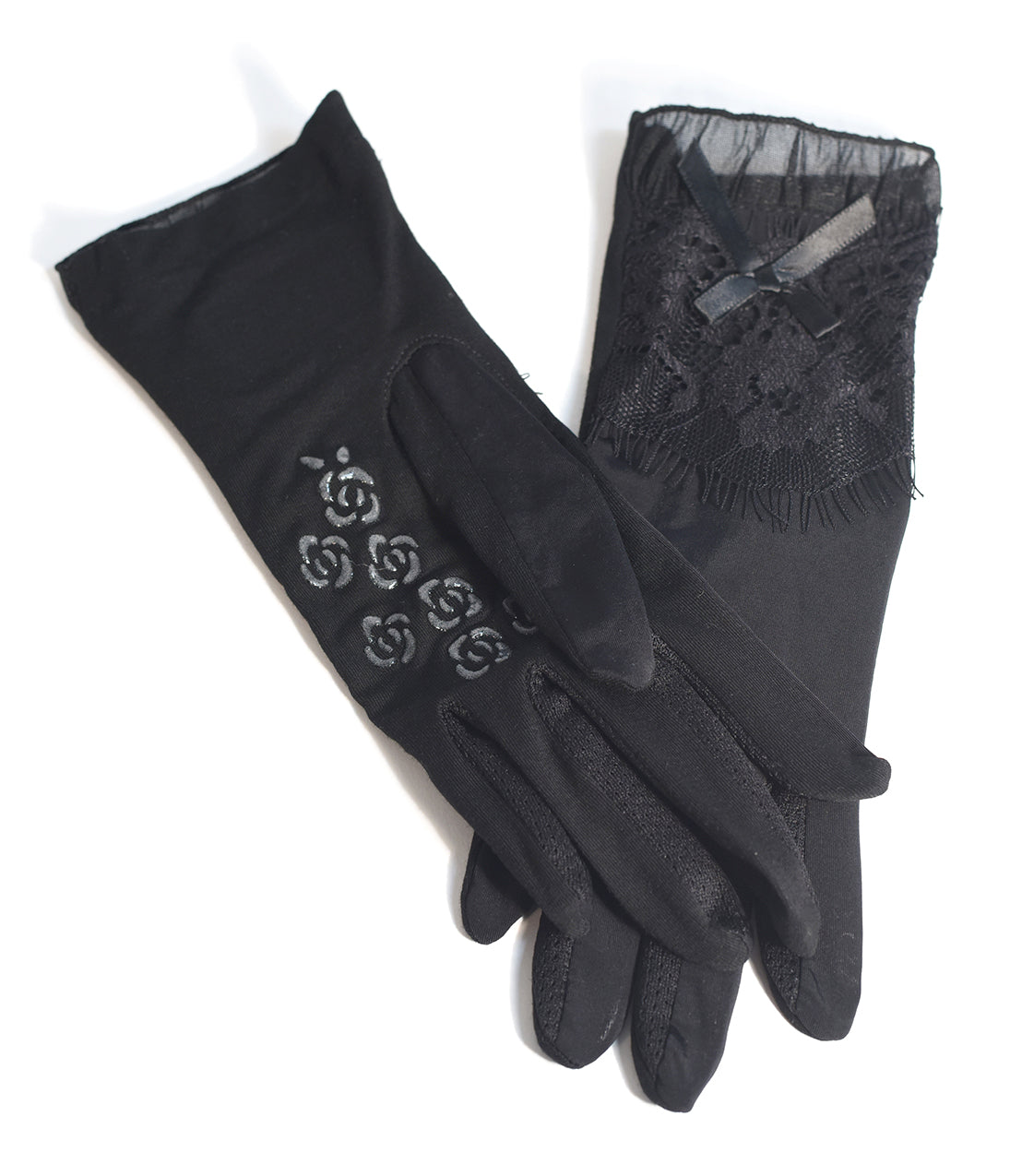 Vintage Style Gloves- Long, Wrist, Evening, Day, Leather, Lace Black Vintage Lace Sheer Wrist Gloves $18.00 AT vintagedancer.com