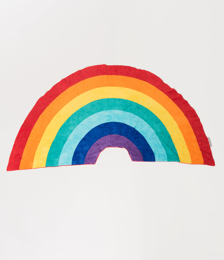 Rainbow Shaped Cotton Beach Towel