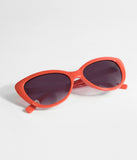 Red Smirk Cat Eye Sunglasses