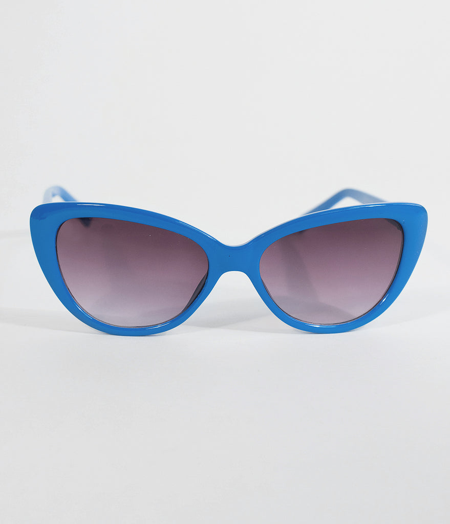 Royal Blue Smirk Cat Eye Sunglasses