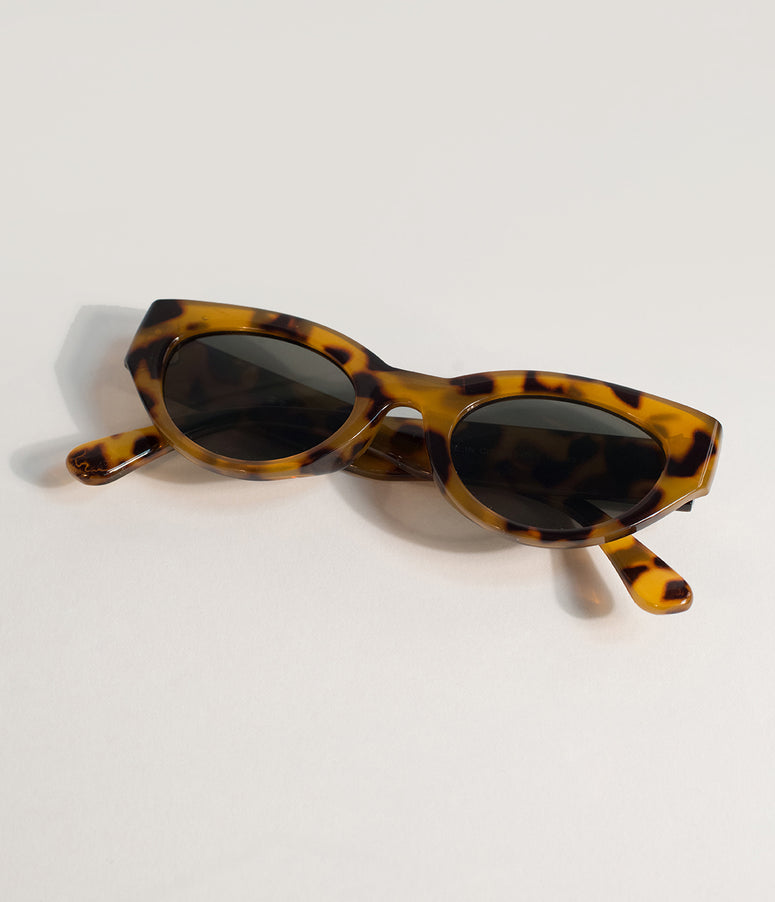 Brown Tortoise Shell Classic Cat Eye Sunglasses