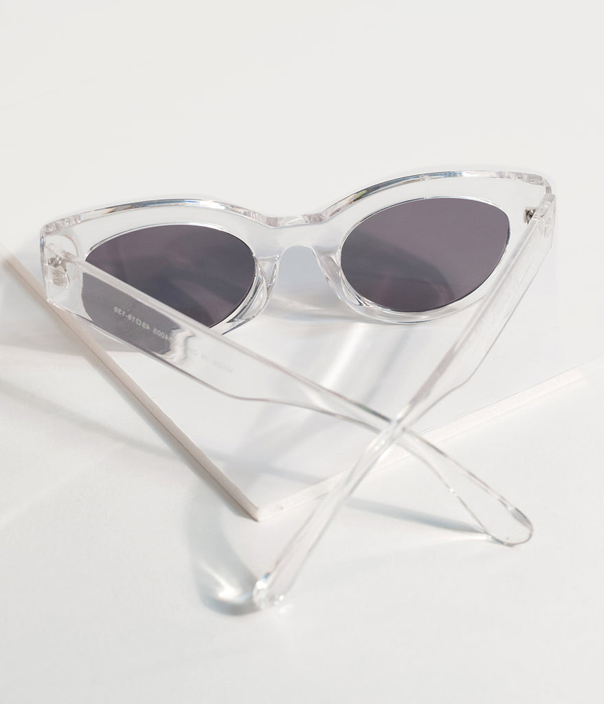 Crystal Clear Classic Cat Eye Sunglasses
