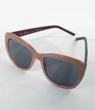 Dusty Rose Square Cat Eye Sunglasses